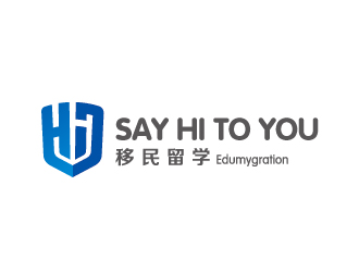 SAY HI TO YOU 留学移民logo设计