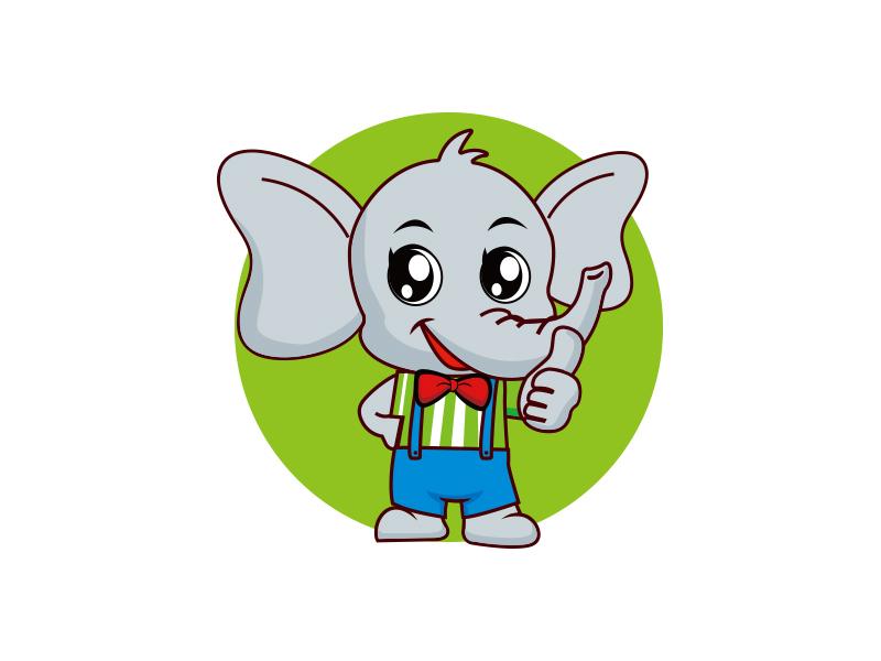 大橡(大象卡通图案) Logo Design